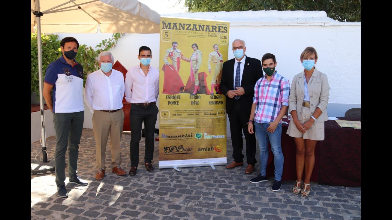 Enrique Ponce, Curro Díaz y Sergio Serrano en los Festejos Taurinos Manzanares 2020