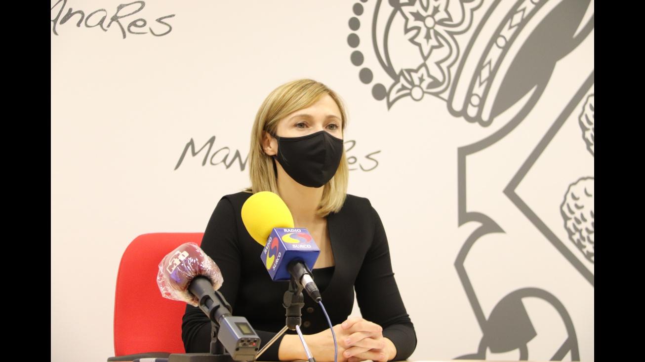 Laura Carrillo en la rueda de prensa del 2 de noviembre de 2020