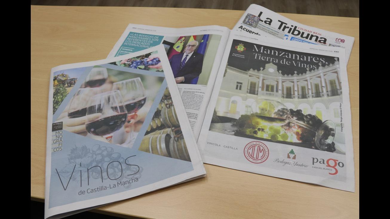 Manzanares en el monográfico sobre vinos de 'La Tribuna de Ciudad Real' (27-11-2020)