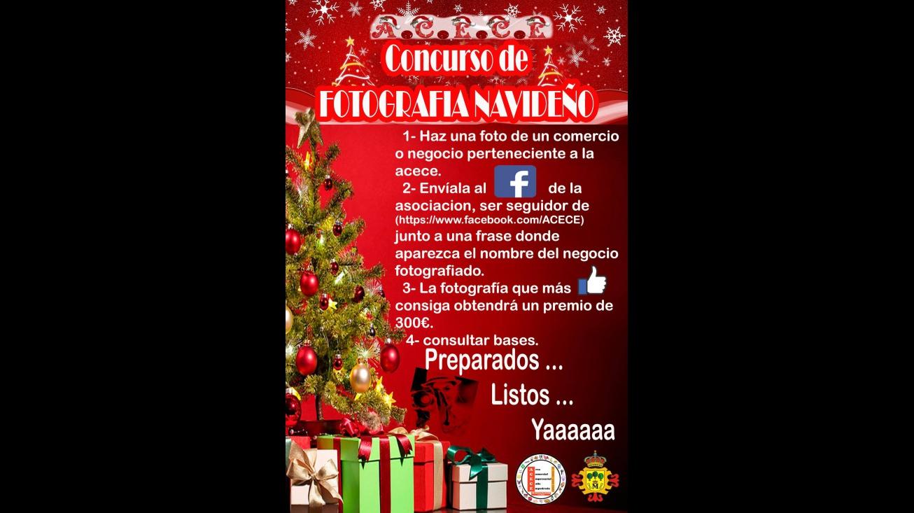 Cartel del concurso fotográfico navideño de ACECE