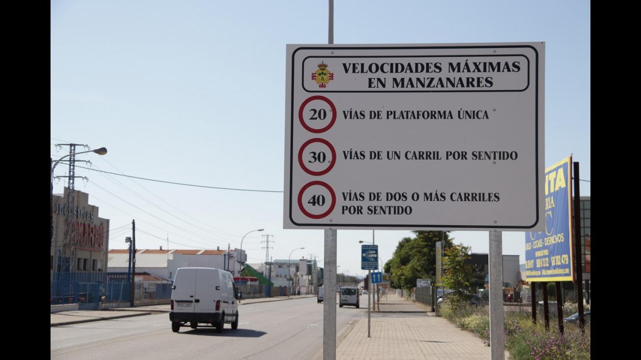 Nuevos límites de velocidad en Manzanares