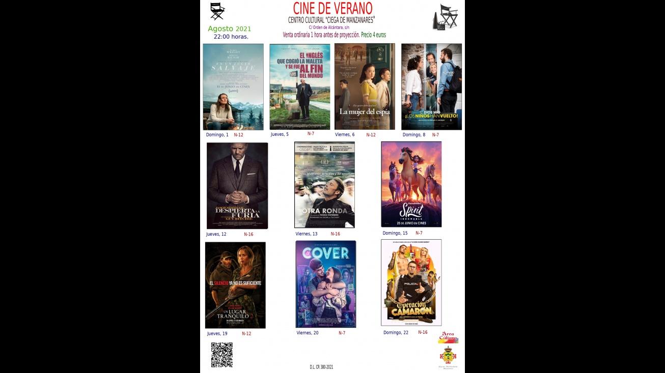 Cine de verano agosto