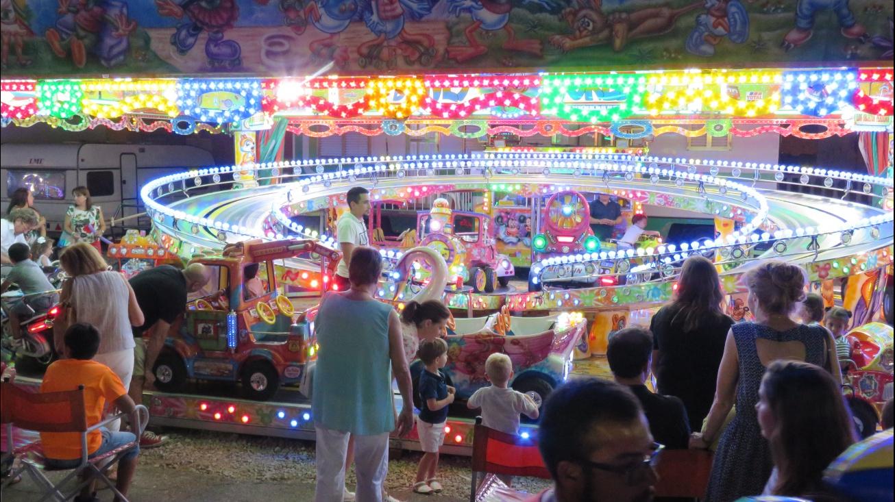 Una de las atracciones infantiles de la feria de 2018 de Manzanares